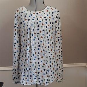 Boden colorful polka dot blouse